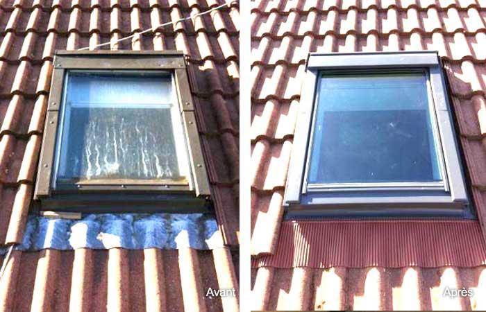Remplacement velux fenêtre de toit