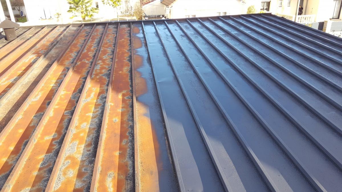 Réfection d'une toiture en tole metallique